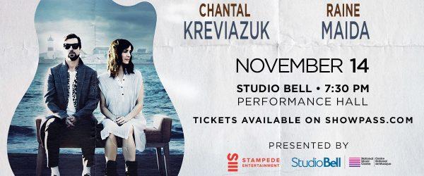 NMC presents: Chantal Kreviazuk & Raine Maida at Studio Bell